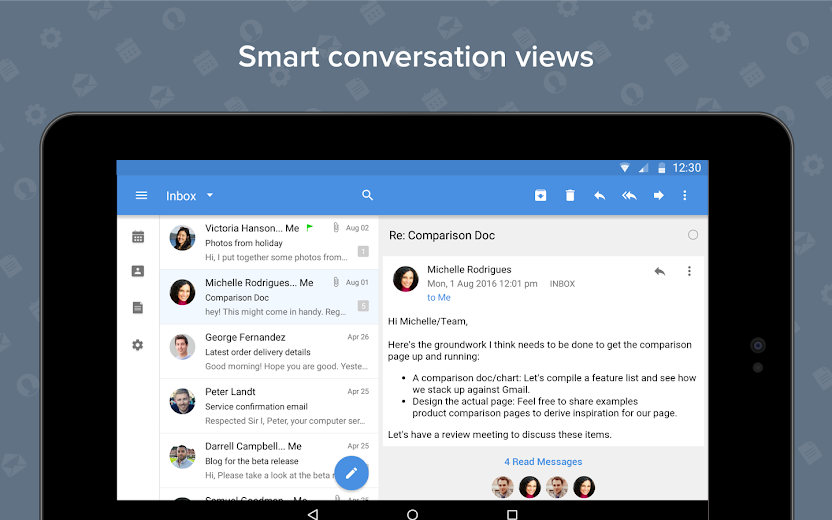Screenshot 14 for Zoho Mail's Android app'