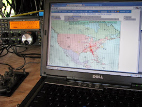 Photo: 50 MHz real-time eSkip map Sun. morn. - ARRL June VHF 2014