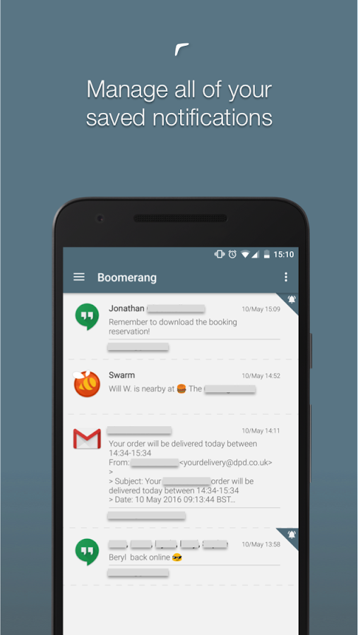 Boomerang Notifications- screenshot