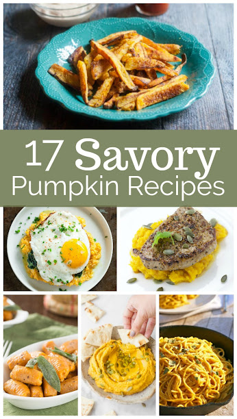 17 Savory Pumpkin Recipes for Fall! Pumpkin bread and PSL coffee are great, but there are many other delicious pumpkin recipes - like these!