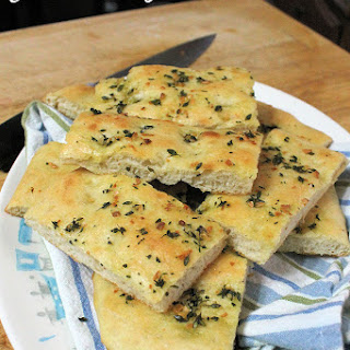 Garlic Focaccia Bread with Thyme
