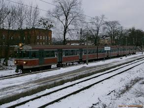 """Photo: EN57-1314, IR """"Mamry"""" Olsztyn Główny - Poznań Główny {Toruń Miasto, 2013-01-07}"""