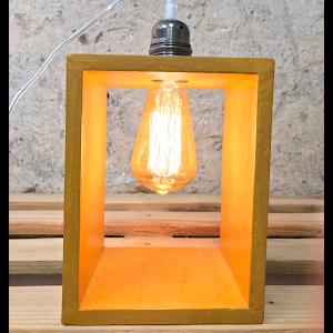 lampe béton jaune moutarde