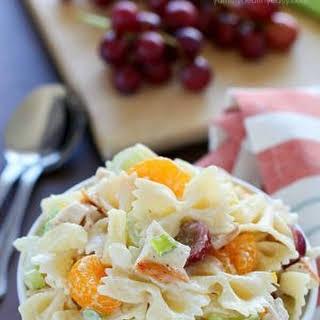 Tropical Chicken Bowtie Pasta Salad.