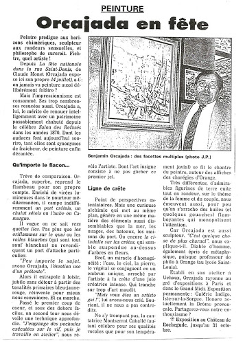 Benjamin Orcajada peintre en Provence