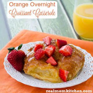 Orange Croissant Breakfast Casserole.