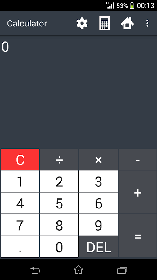 Building calculator- screenshot