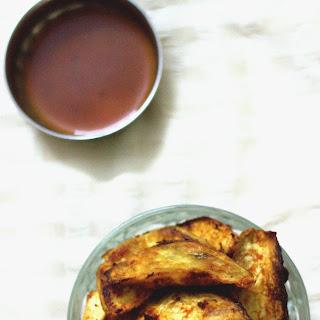 5 Ingredient Spicy Garlic Baked Sweet Potato Wedges