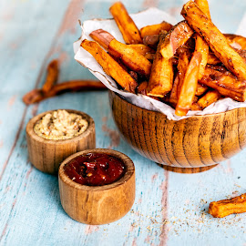 Sweet Potato Fries by Antonio Winston - Food & Drink Plated Food
