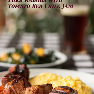 Pork Kabobs with Tomato Red Chile Jam
