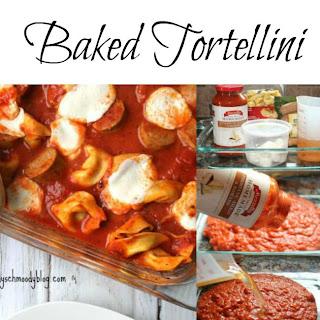 No Boil Baked Tortellini