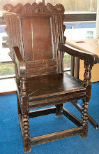Photo: The (much less glamorous but possibly more authentic) Park School Headmistress' Chair