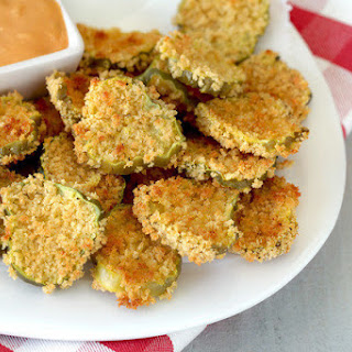 Faux-Fried Pickle Chips.