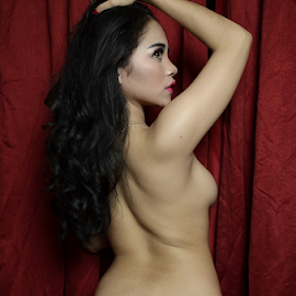 sexy by Renie A. Priyanto - Nudes & Boudoir Artistic Nude ( #red #woman #black #nudes #beauty )