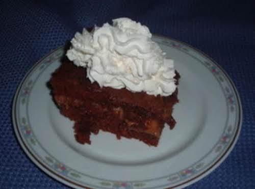 "Chocolate Caramel Fudge Cake ""Absolute heaven!! Terrific with rich vanilla ice cream..."