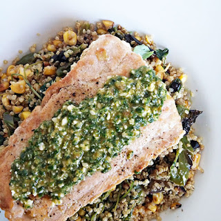 Salmon And Quinoa Salad With Basil Pistou