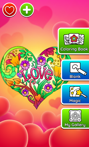 Valentines love coloring book filehippodl screenshot 21