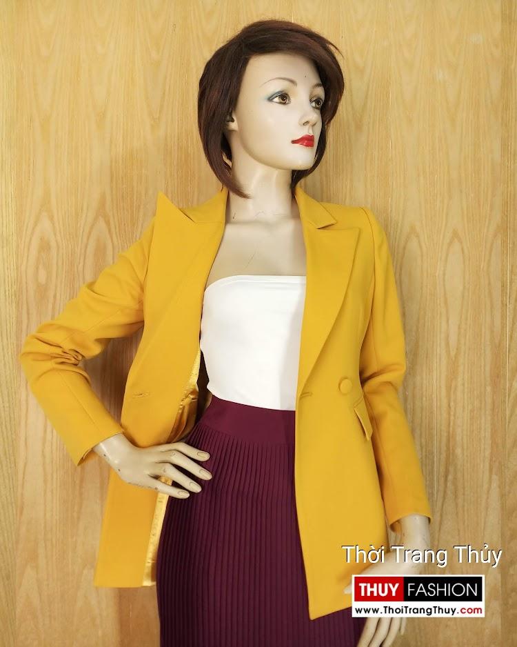 Áo vest nữ công sở màu vàng cháy V658 thời trang thủy hải phòng
