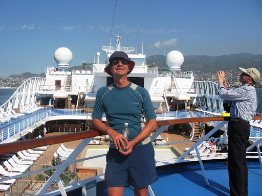 Richard Pietschmann on Marina deck during stop in Acapulco