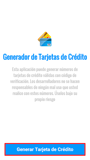 Generador Tarjetas de Cru00e9dito 8 screenshots 1