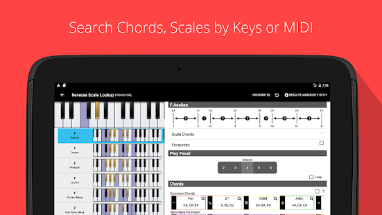 Piano Chord, Scale Companion- screenshot thumbnail