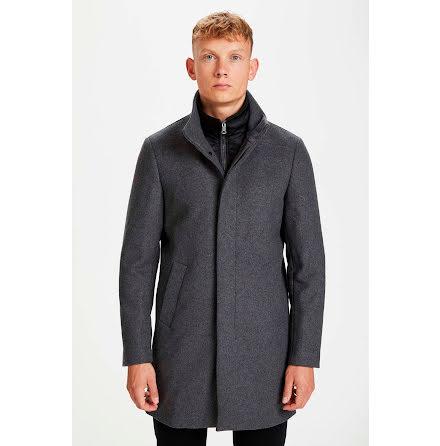 Matinique Harvey N classic wool coat grey melange