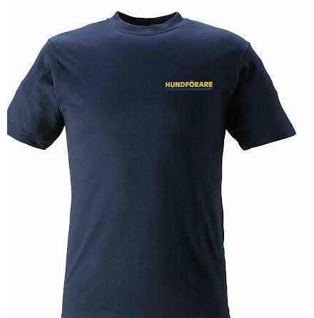T-shirt HUNDFÖRARE marinblå