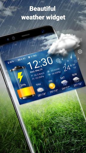 Weather Widget & Battery Checker  screenshots 2
