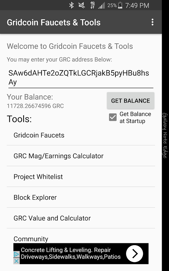 Gridcoin Faucets & Tools- screenshot