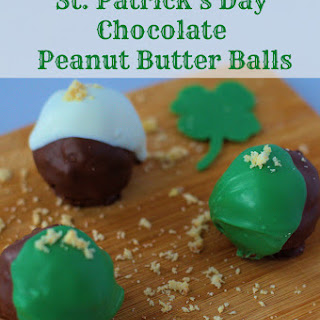 St. Patrick's Day Chocolate Peanut Butter Balls.
