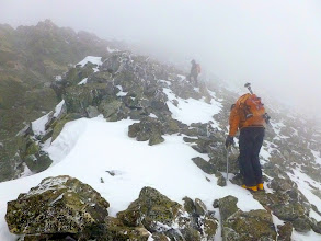 Photo: We reversed our track back down to our low point between Ellingwood and Blanca and then continued the wind fight by ascending Blanca Peak