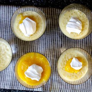 Coconut Tapioca Pudding with Mango.