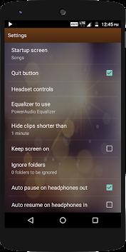 PowerAudio Pro Music Player app for Android screenshot