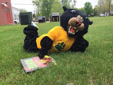 Pawly the Panther gearing up for the next reading challenge!