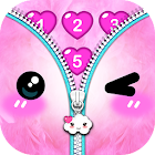 Kawaii Zipper Lock Screen icon