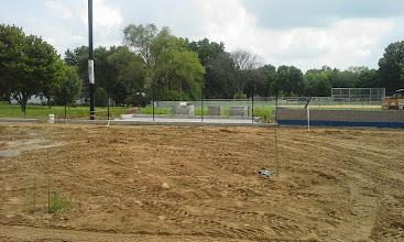 Photo: Dugout Concrete Slab Poured 08-05-2014