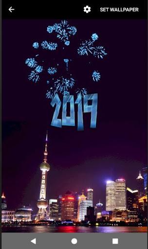 4D Happy New Year 2019 Live Wallpaper 1.0 screenshots 1