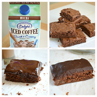 Chilled Iced Mocha Brownies #IcedDelight