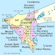 Photo: Sn3S0002-Dakar, ses 19 Communes d'arrondissement (appelés aussi quartiers) Dakar_districts.svg