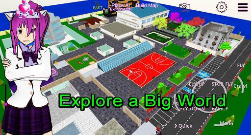 School Girl A.I. - 3D Multiplayer Simulator World  screenshots 1