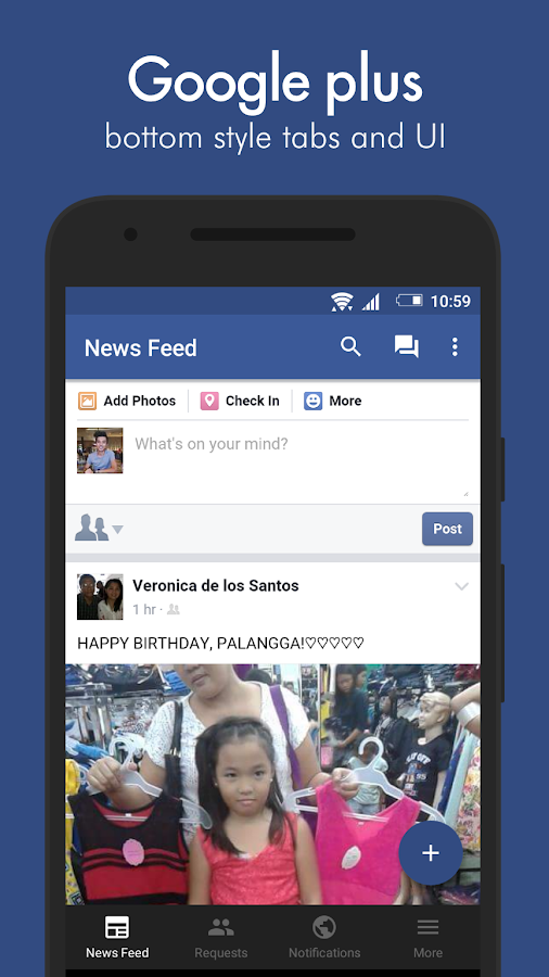 Swipe for Facebook Pro – Screenshot