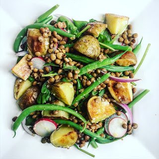 Lentil, Green Bean & Potato Salad with Lemon Vinaigrette Recipe