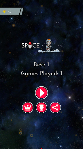Spaceman : Rocket in the Space