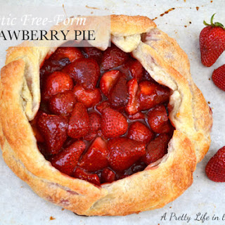 Rustic Free-Form Strawberry Pie.