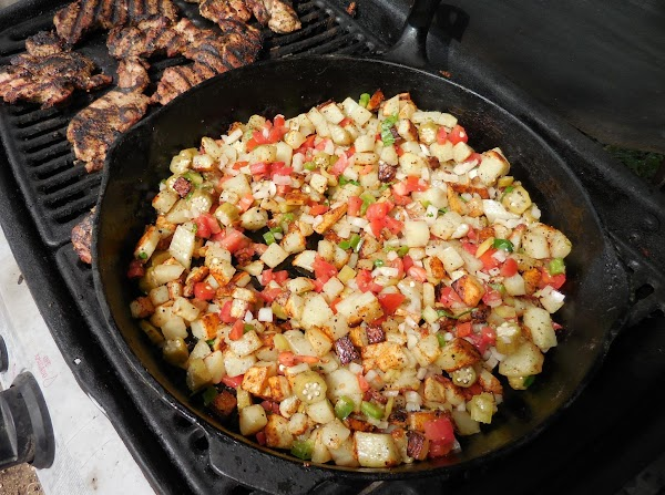 5/2015 For grilling, toss potatoes well with olive oil and spices of choice.  Place...