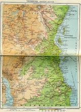 Photo: Tanganyika map circa 1952
