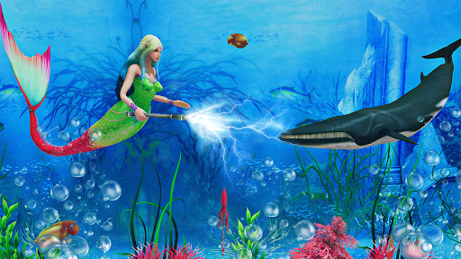 Mermaid Simulator 3D - Sea Animal Attack Games screenshots apkspray 2