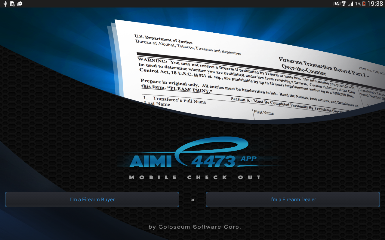 AIMI e4473 Firearms App Tablet- screenshot