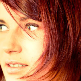 JoJo by Alex Newstead - People Portraits of Women ( model, red, girl, head shot, close up, pretty, hair )