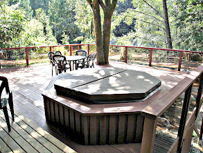 Photo: GARDEN LEVEL - 6 PERSON HOT-TUB IS FOR YOUR SOLE PRIVATE USE - WONDERFUL AFTER A HARD DAY !